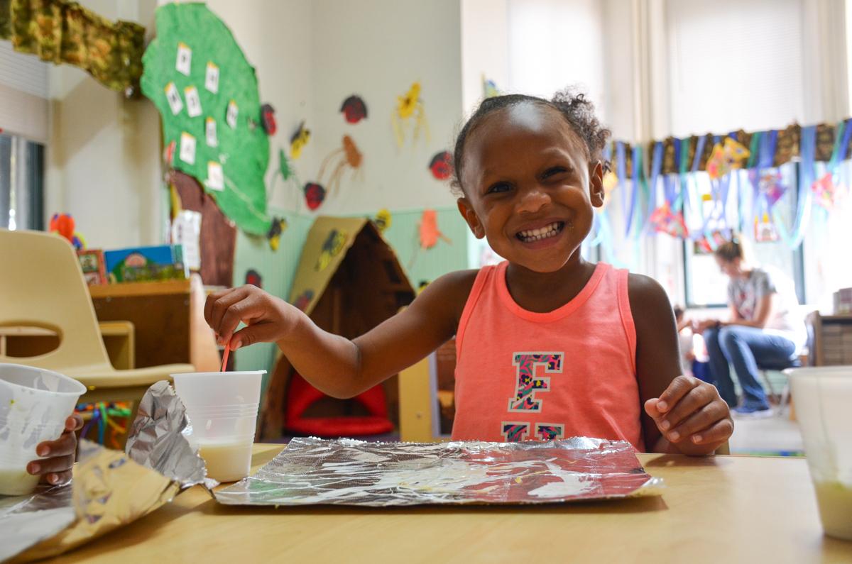 City of San Antonio Head Start - Child Painting